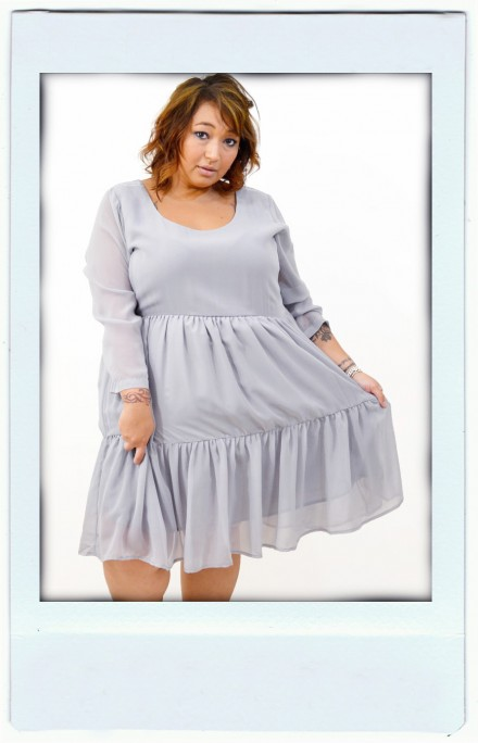 Baby Grey Babydoll Dress