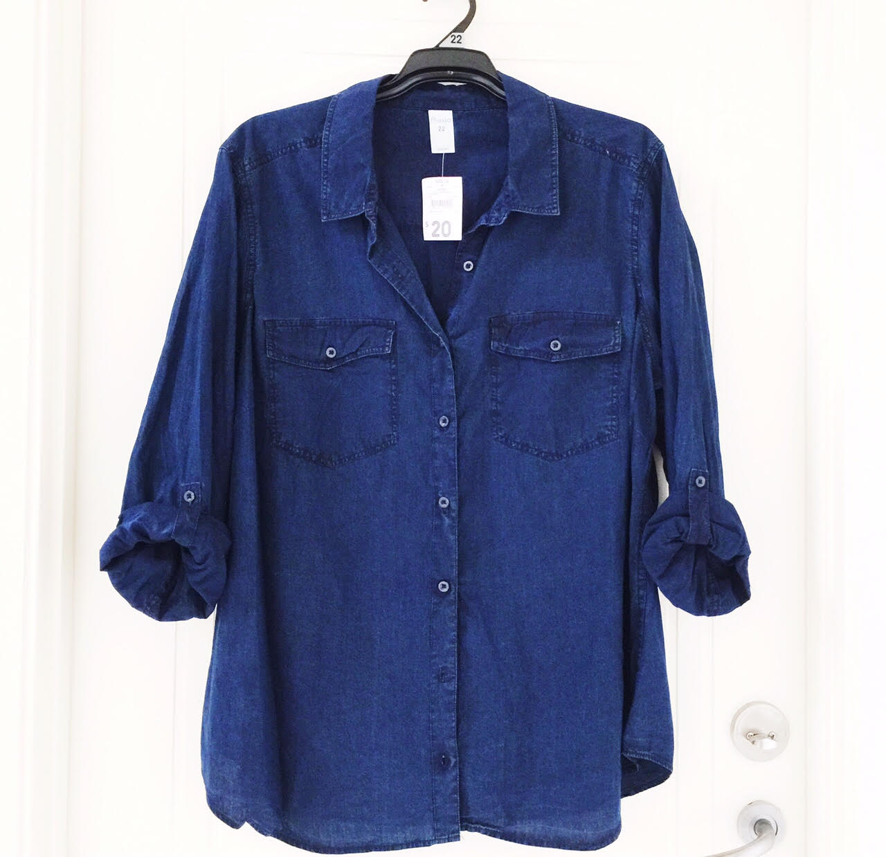 Denim shirt from Kmart - $20!