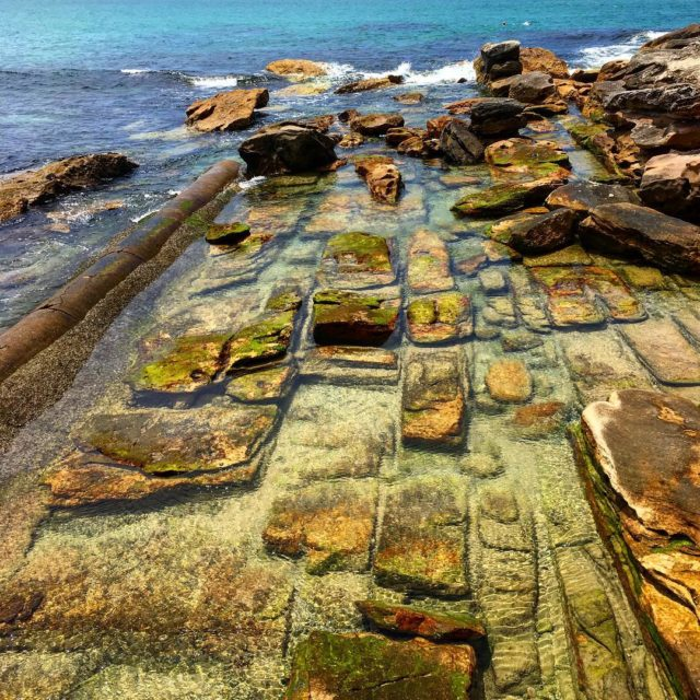 The weird erosion of the rocks at Manly sydney