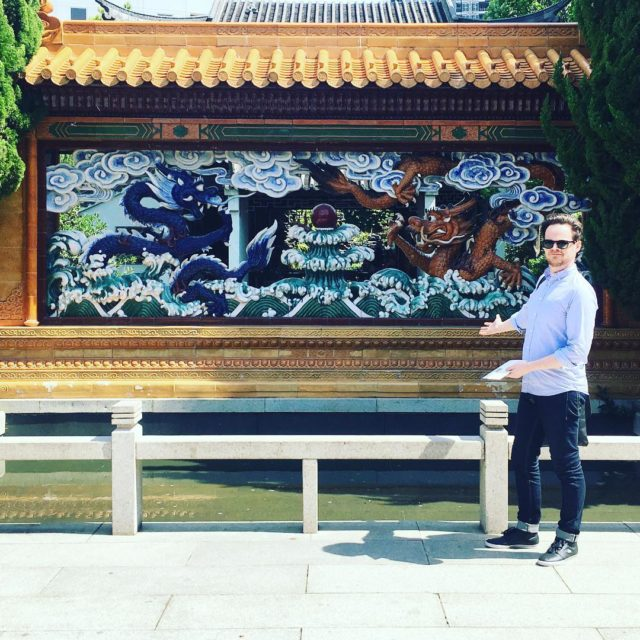 This is a wall with dragons on it scottatron chinesegardenshellip